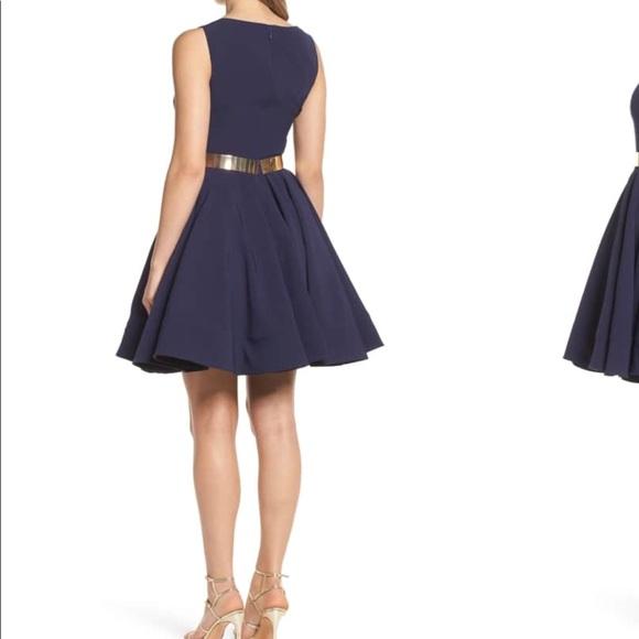 fcd210990494 Mac Duggal Dresses | Ieena For Belted Fit Flare Dress | Poshmark